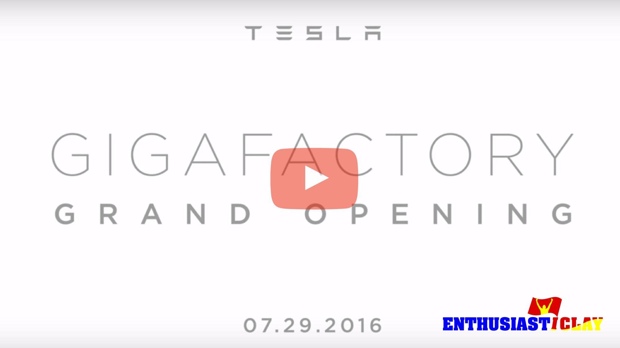 Elon Musk, Opens Tesla Giga Factory